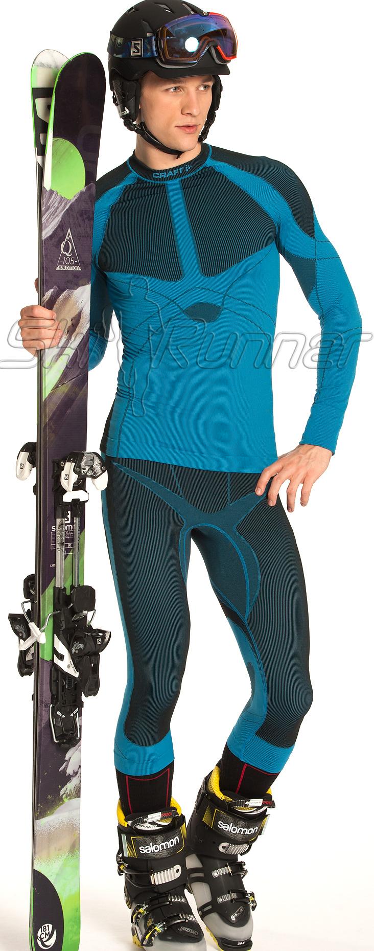 Капри Craft Warm мужские темно-синие