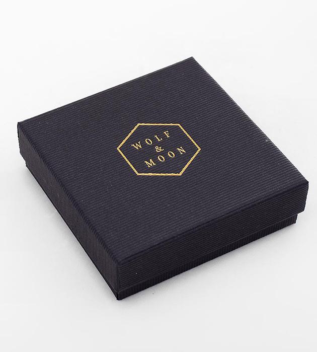 эффектные серьги Crystallized Purple&Bronze от английского бренда Wolf&Moon