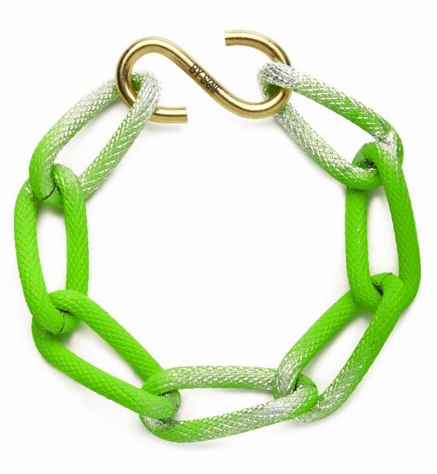 Купите ярко-зеленый браслет-цепь из металла от by soif