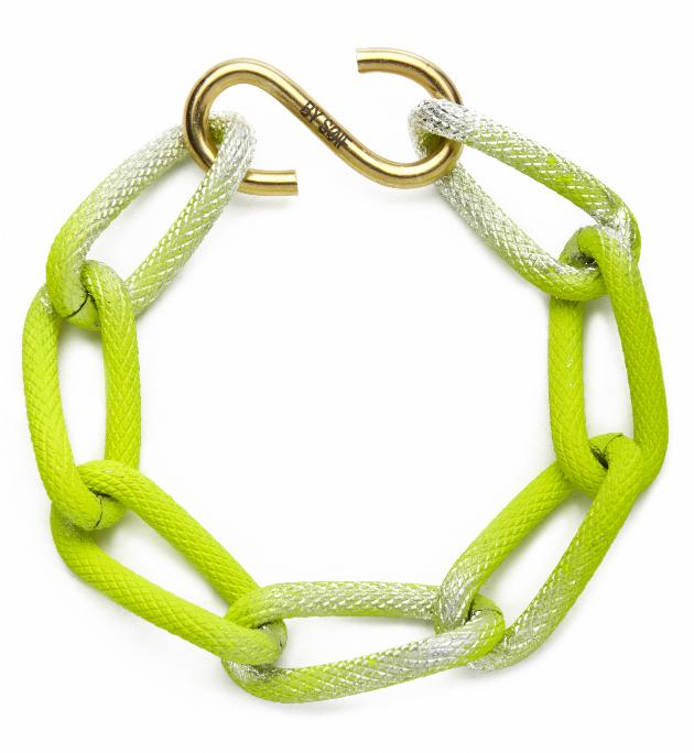 Купите неоново-желтый браслет-цепь из металла by от soif