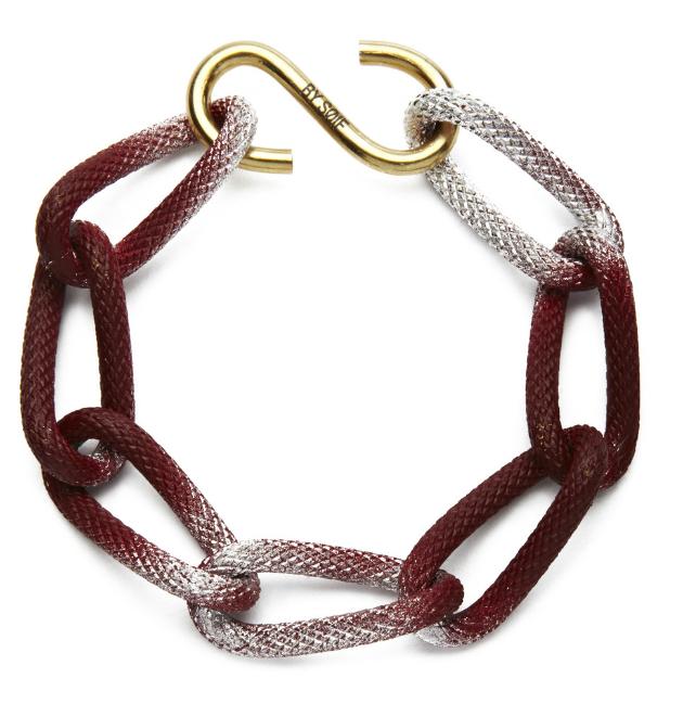 Купите металлический браслет-цепь бордового цвета от by soif