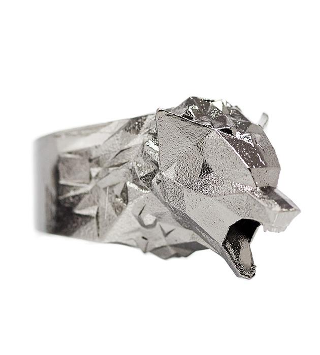 Брутальное кольцо с головой волка THE BIG BAD WOLF от Thomas.V