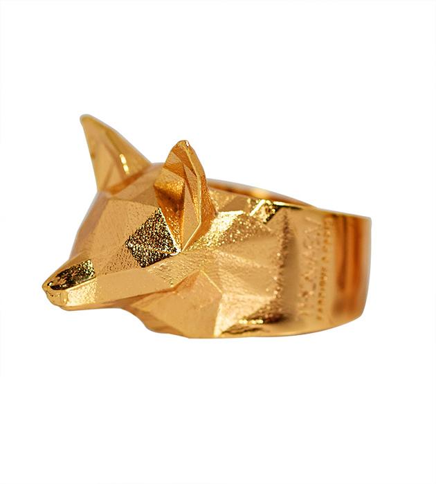 Стильное кольцо золотого цвета THE GOLDY FOX от Thomas.V