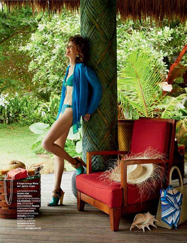 Золотая длинная подвеска-ракушка от Apodemia в журнале Conde Nast Traveller