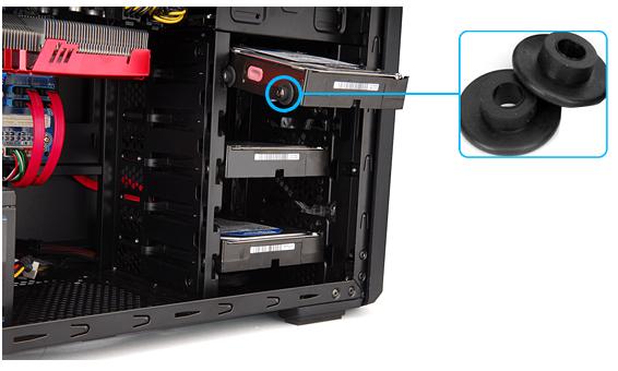 Установка HDD с антивибрационной системой без инструментов
