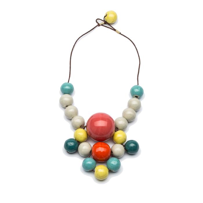 Керамическое модное Колье-Бусы