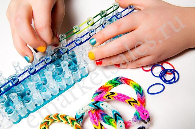Набор для плетения браслетов из резинок купить в алматы