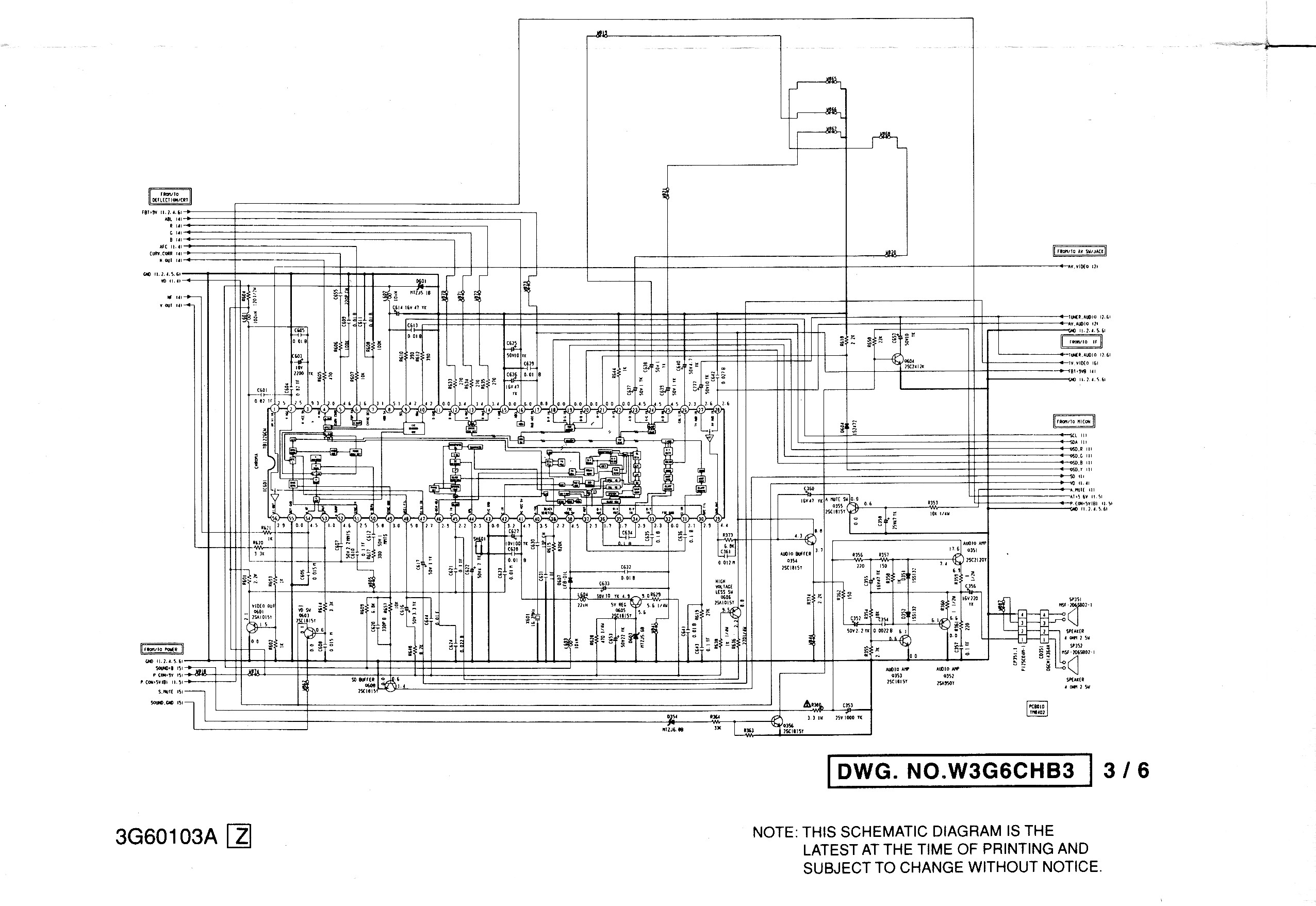 h схему телевизора chassis