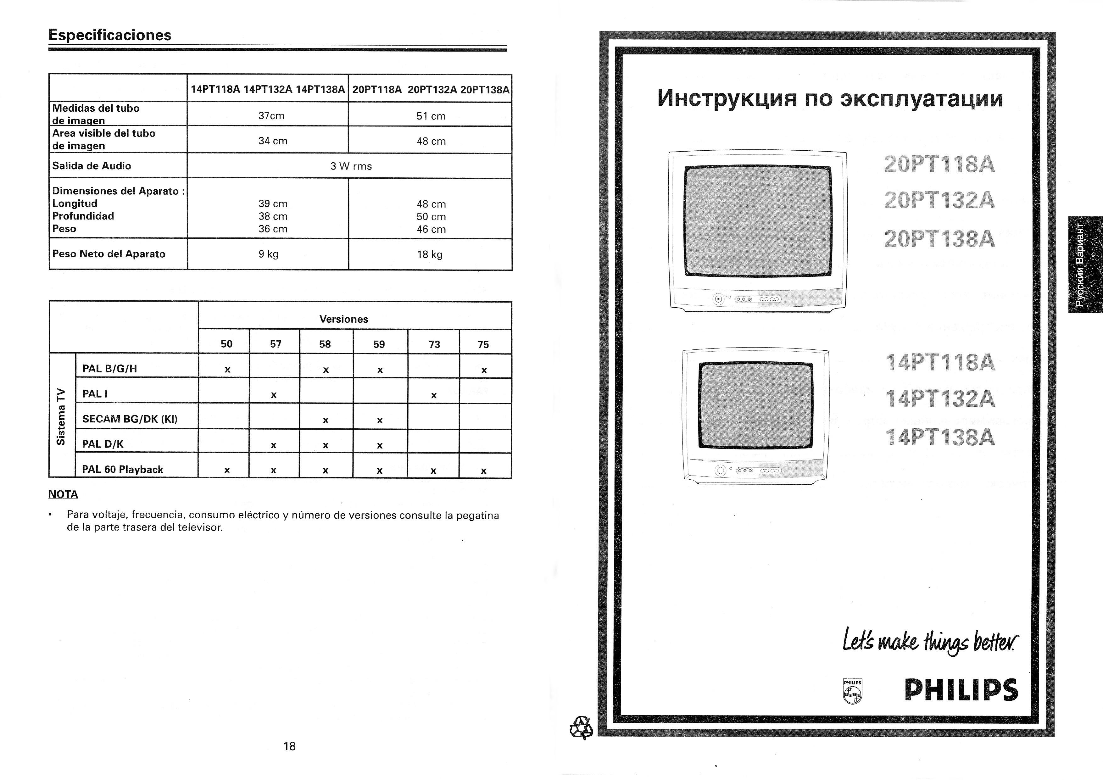 Philips 14pt138 схема