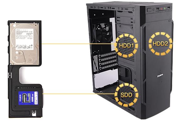 Простая установка HDD/SSD