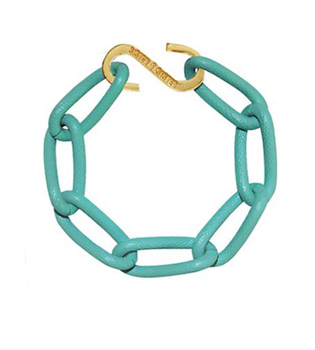 купите яркий бирюзовый браслет из алюминия Techno bracelet от Sister Sister Project