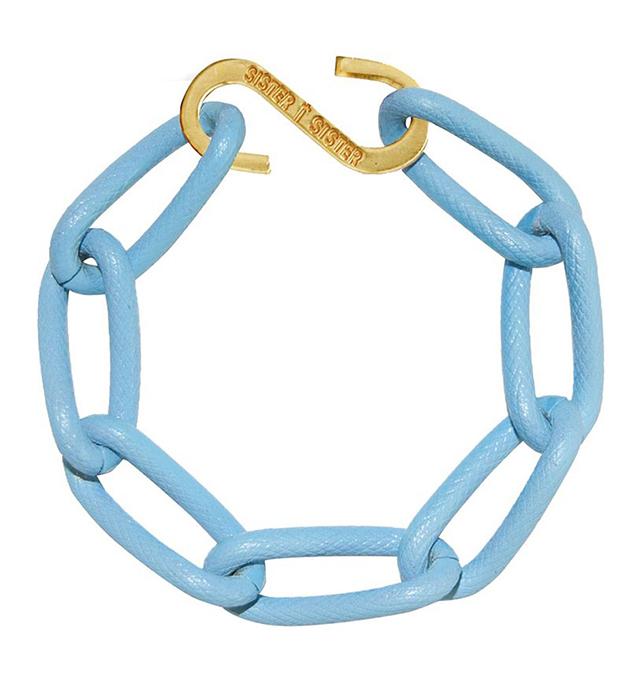 купите светло-голубой браслет ручной работы Techno bracelet от Sister Sister Project