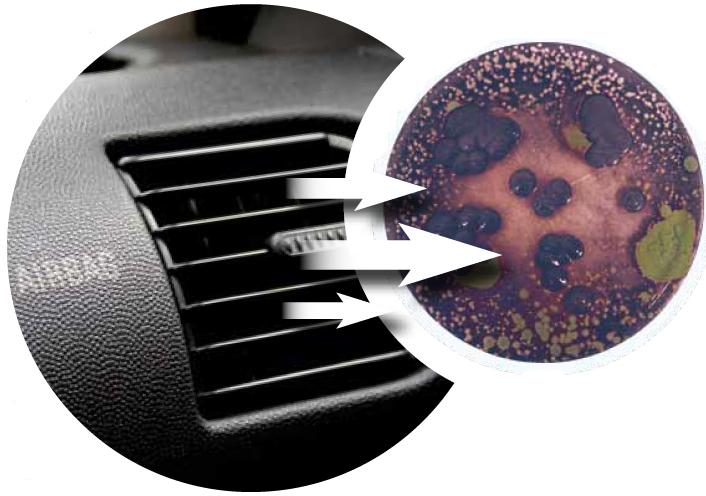 Эффективность охлаждения воздуха в салоне падает