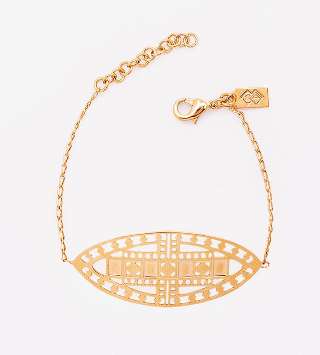 стильный резной браслет на цепочках Vassily от Chic Alors-Paris