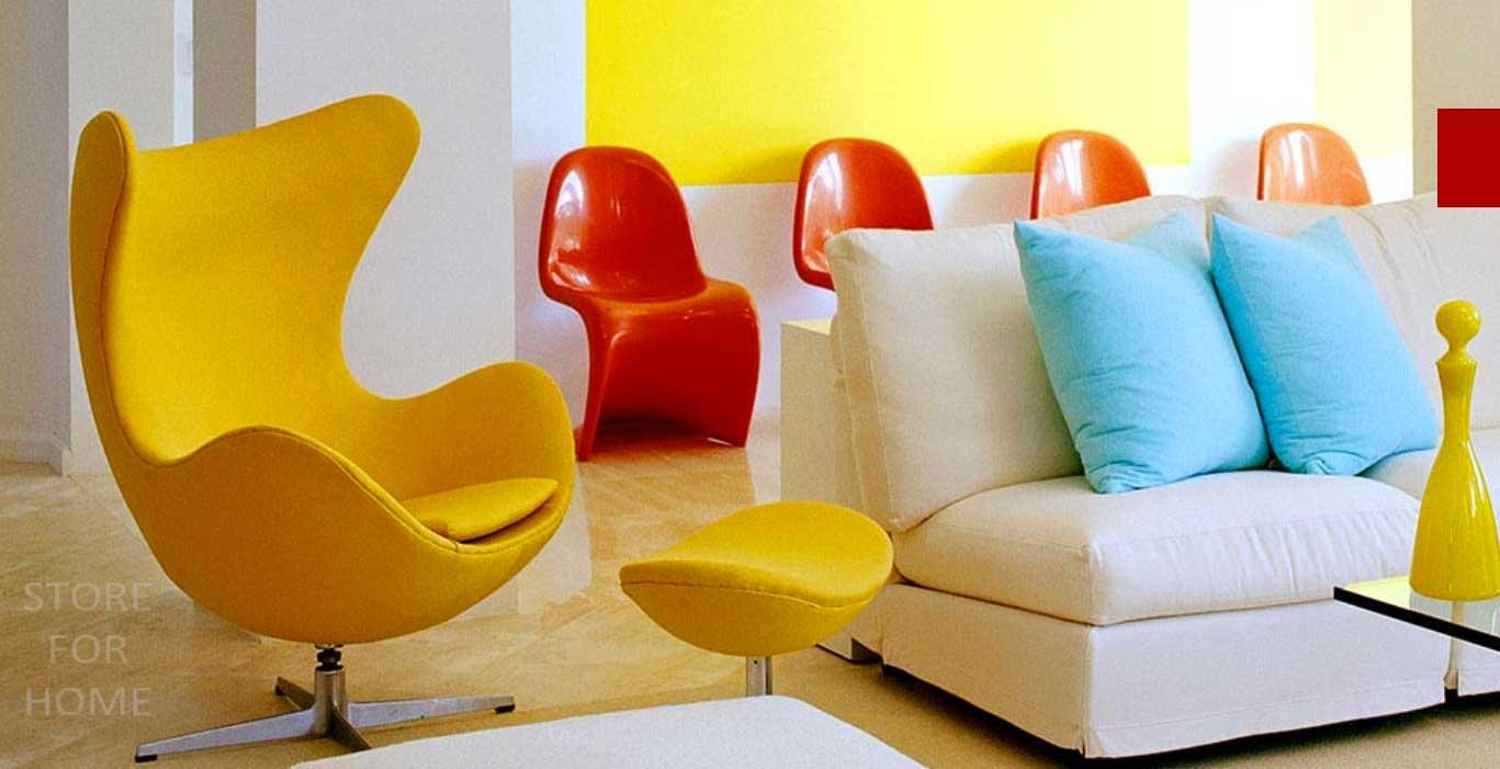 желтое кресло яйцо