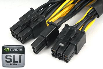 Три 6-pin и 3 6+2-pin разъема для систем с тремя видеоадаптерами