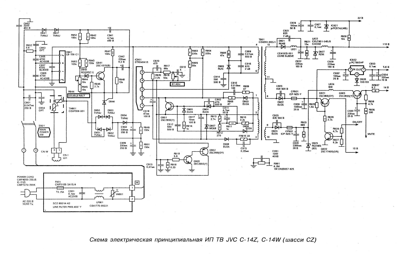 Схема телевизора jvc lt-20j50se