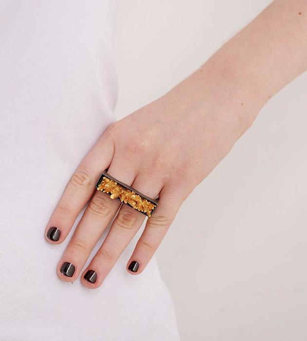 необычное двойное кольцо CRISTAL от Thomas.V