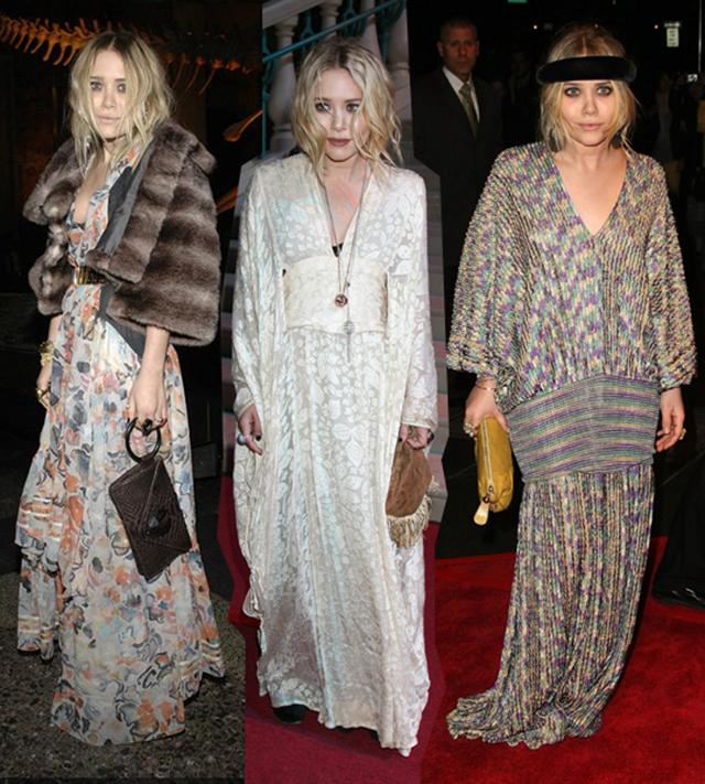 сестры олсен одеваются в стиле бохо-шик