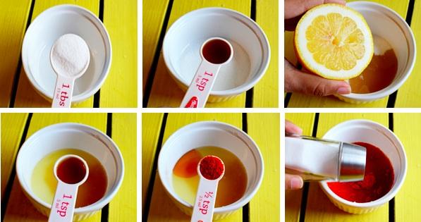 Смешиваем остальные продукты, необходимые для рецепта Оригинальный салат с манго
