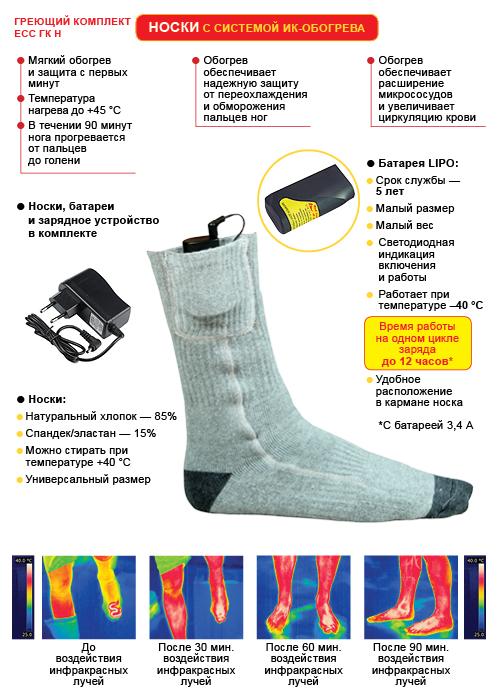 Носки с подогревом RedLaika - схема и принцип работы