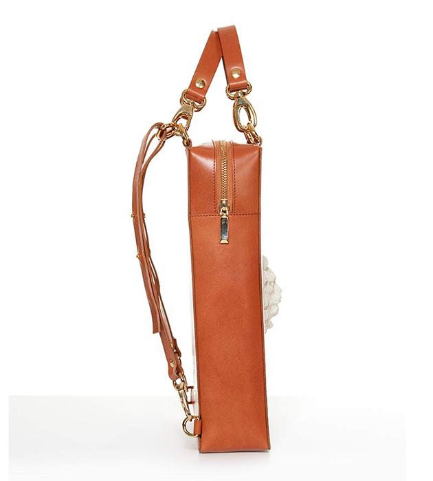 купите стильную сумку-рюкзак ручной работы Bagpack Lion Bag Caramel  от ANDRES GALLARDO