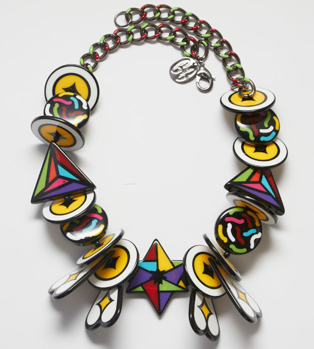 Яркое массивное ожерелье купить на разноцветной цепочке «Тамарис» Gonzalo Cutrina фото