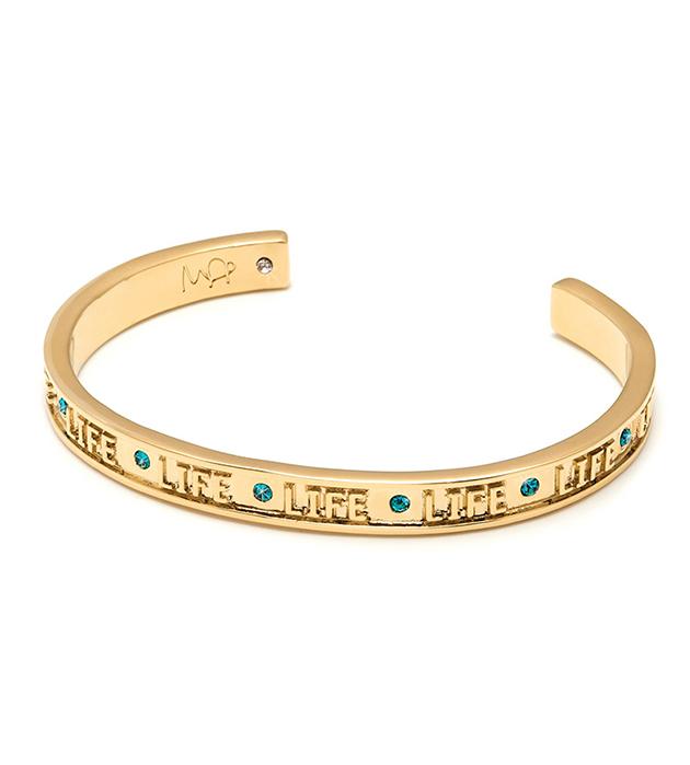 тонкий браслет с тиснением и кристаллами Swarovski от итальянского бренда Maria Francesca Pepe