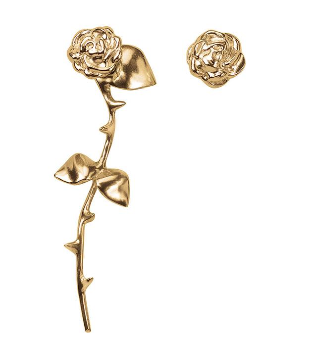купите оригинальные серьги Marina`s Roses Golden earrings от английского бренда SMITH GREY