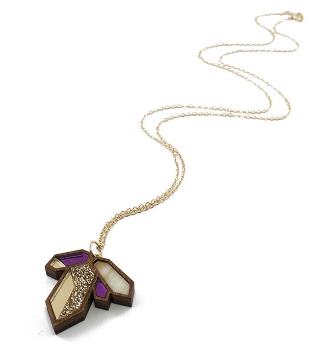 купите нарядная пурпурно-золотая подвеска  от Wolf&Moon