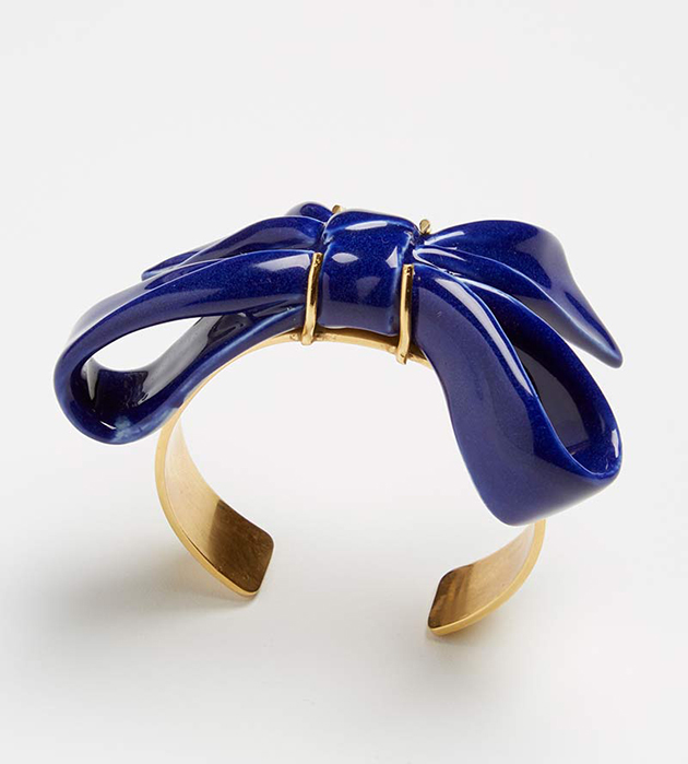 купите украшение ручной работы из фарфора Bow Blue bracelet от ANDRES GALLARDO