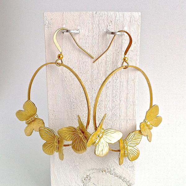 Купите большие серьги-бабочки от Susana Espiauba