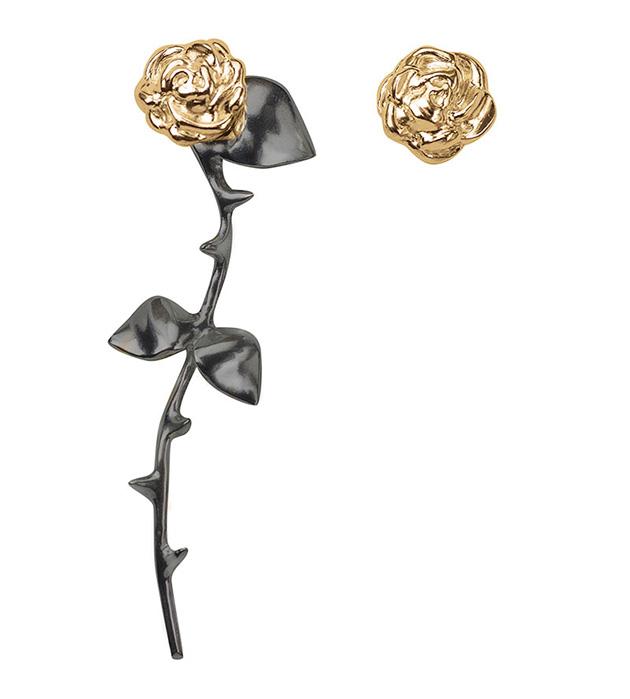 купите серьги ручной работы Marina`s Roses Gold&Black earrings от английского бренда SMITH GREY