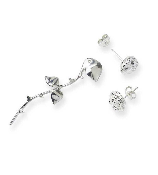 купите необычные серьги-трансформеры Marina`s Roses Silver earrings от SMITHGREY