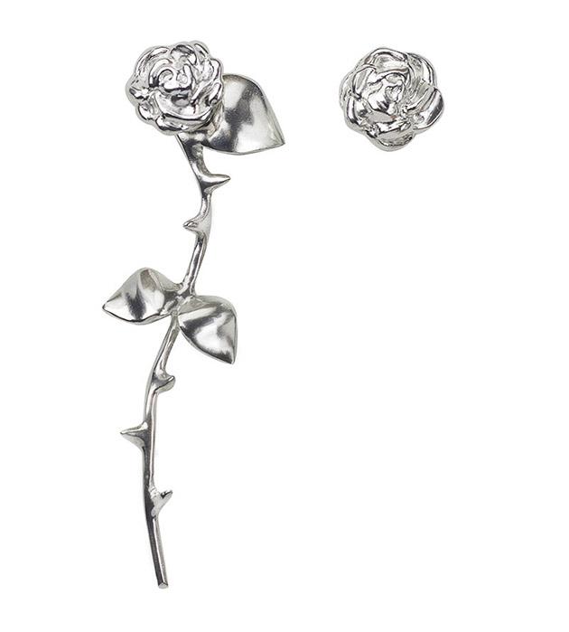 купите цветочные серьги из серебра от SMITH GREY - Marina`s Roses Silver earrings