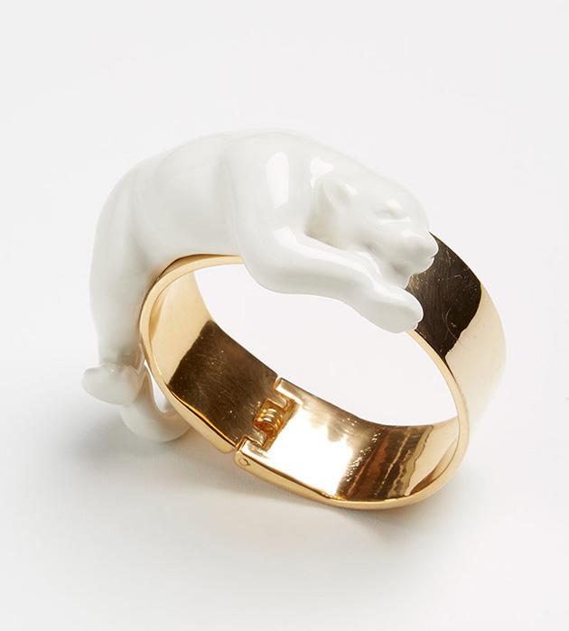 купите браслет в анималистичном стиле от ANDRES GALLARDO - Panther bracelet white