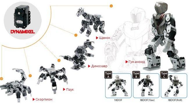 Возможные модели Robotis Premium