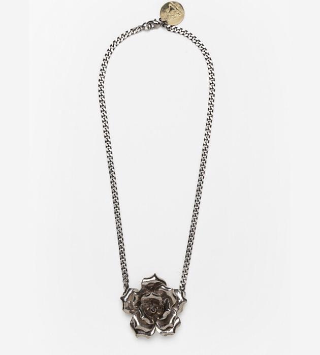 бижутерия из фарфора от ANDRES GALLARDO Single Flower Silver