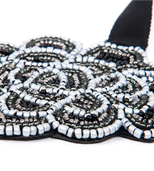 ожерелье из бисера на лентах Aurora от испанского бренда Papiroga