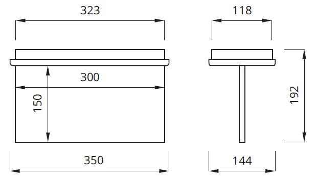 Размер на светильник выход светодиодный IP22 Tiger P LED Awex