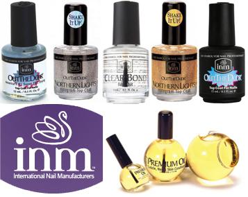 Средства для ногтей INM. азовые покрытия, Средства для ухода, Професиональные лаки для ногтей, Верхние покрытия, Наборы покрытия, Пилки для маникюра, Жидкость для разведения лака для ногтей, Жидкости для удаления лака, стеклянные пилки