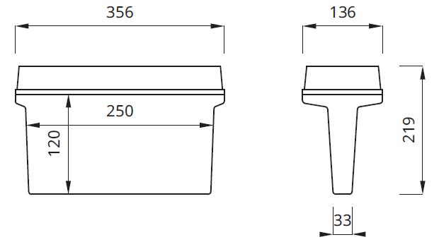 Размер светодиодного эвакуационного светильника выход IP65/IP42 Helios DS LED