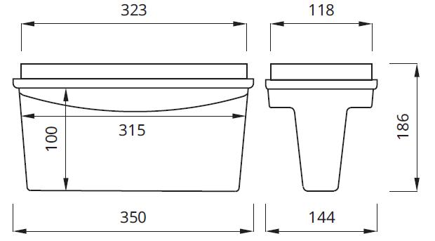 Размер светодиодного светового указателя направления движения Tiger DS LED Awex