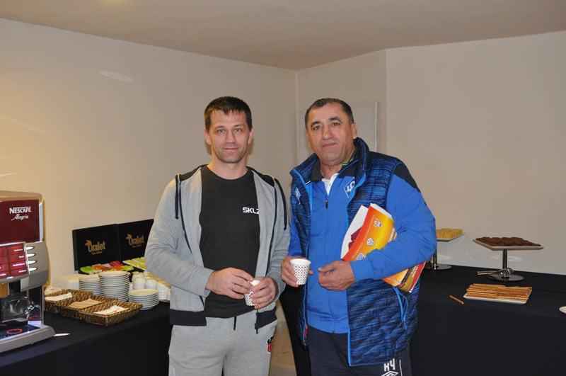 Наш менеджер Константин и Кюри Чачаев из футбольного клуба Крылья Советов