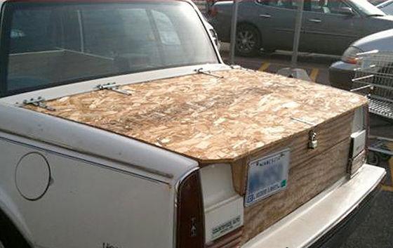 Установка багажника в авто