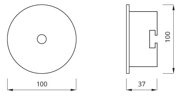 Размер встраиваемого светодиодного аварийного светильника AXP