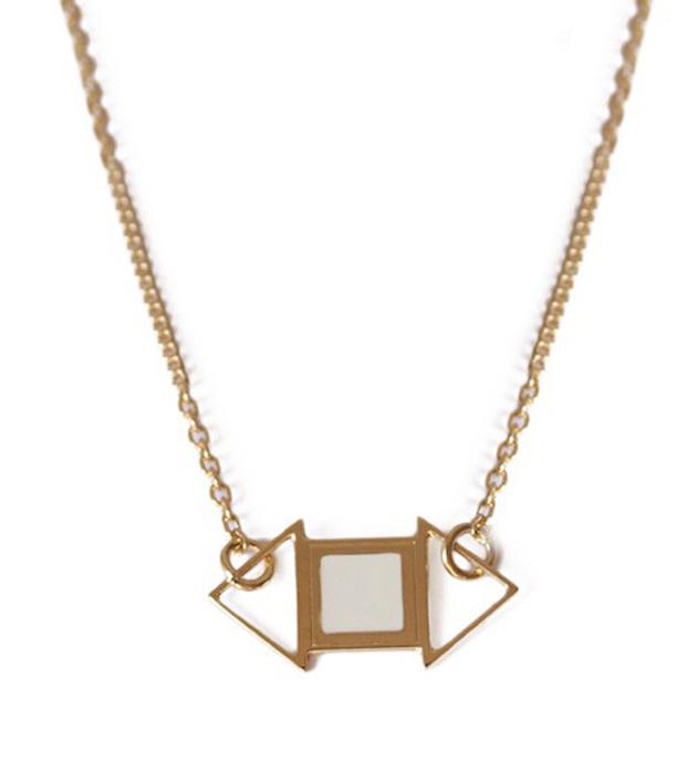 купите минималистичная подвеска золотого цвета от Chic Alors Paris - Edwin Ivoire