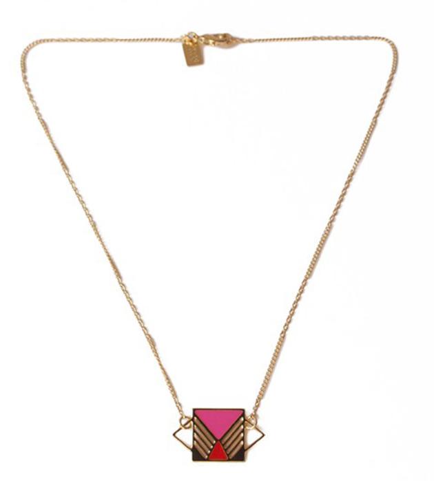 купите геометричная подвеска с разноцветной эмалью Rufus Rose&Rouge от Chic Alors Paris