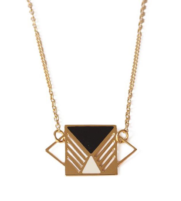 купите украшение в стиле color blocking от Chic Alors Paris - collier Rufus Noir&Ivoire