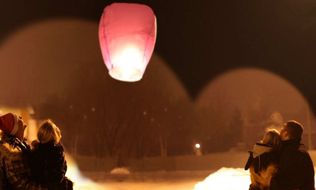Небесный китайский фонарик